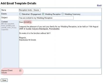 Formal E-mail Invitation Template